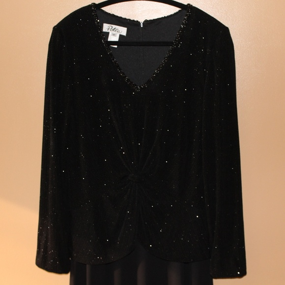 Patra Dresses & Skirts - Long Black Gown with Embellished Top